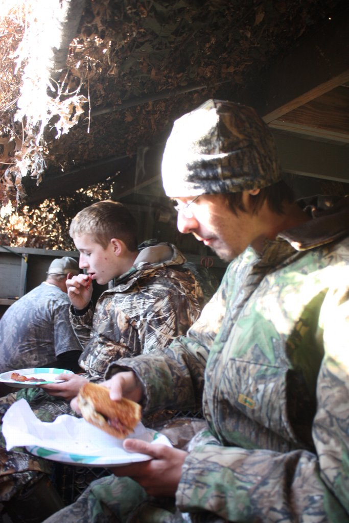 Nothing beats a hot breakfast in the duck blind.